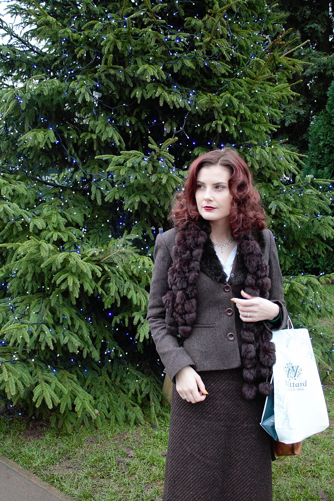 Winter Tweed Vintage Outfit