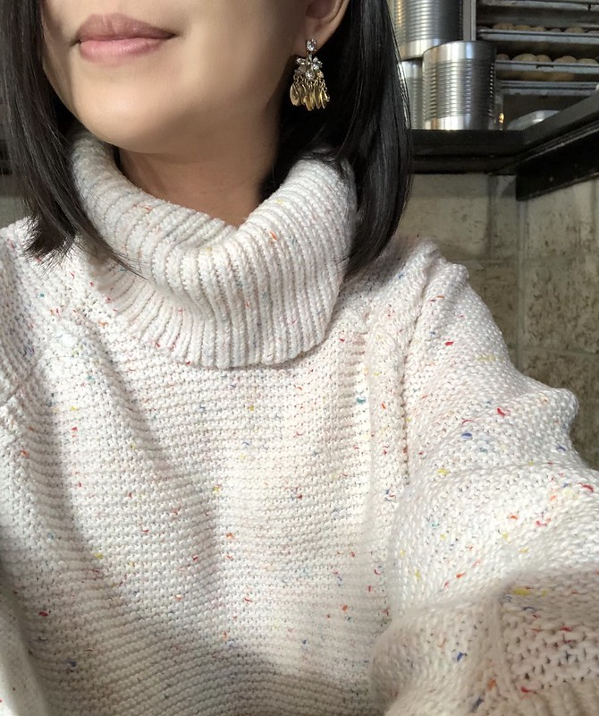 Lou & Grey Rainbow Chip Sweater, size XS regular