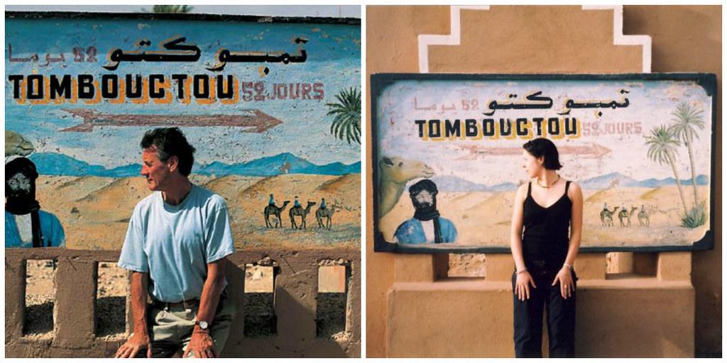 Recreating the famous Michael Palin photo, Zagora, Morocco