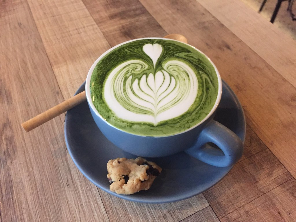 Matcha Latte at Brown Poodle Cafe