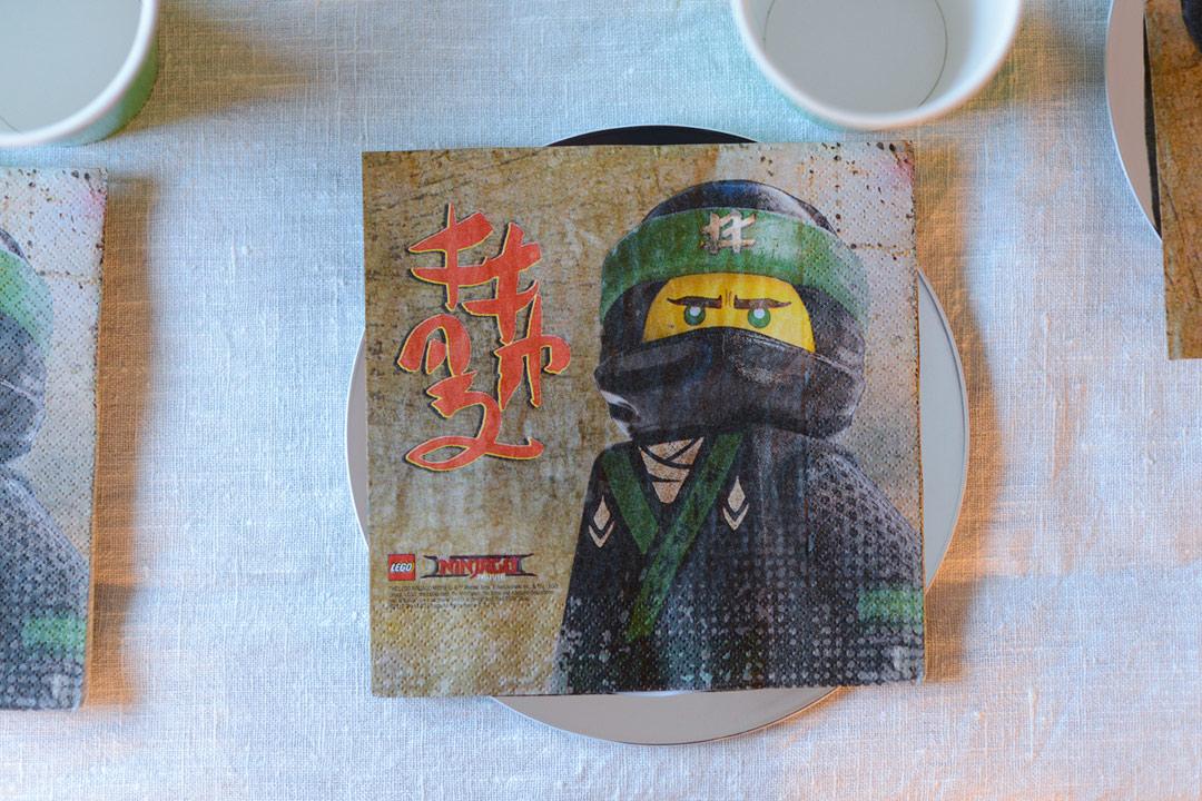 Lego Ninjago napkins