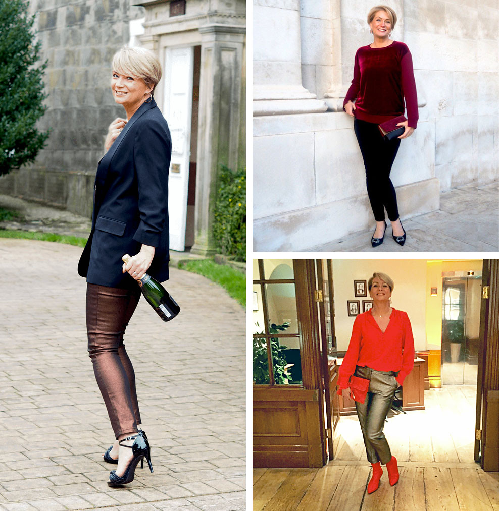 21 Christmas Party Outfits for Over 40 Women (Understated minimalist chic from Nikki, Midlifechic)