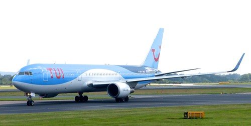 G-OBYF 'Tui'. Boeing 767-304ER on 'Dennis Basford's railsroadsrunways.blogspot.co.uk'