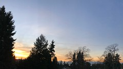 Sunset over the Olympic Peninsula from Greenwood Ave