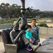Dr Seuss and The Cat in the Hat outside Geisel Library, UC San Diego by Travel Musings