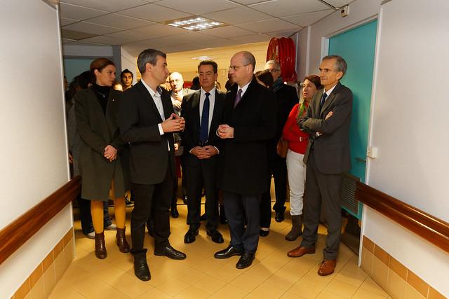 Visite du ministre de l'éducation nationale à la Cité scolaire Elie Vignal et à l'école primaire Les Bleuets