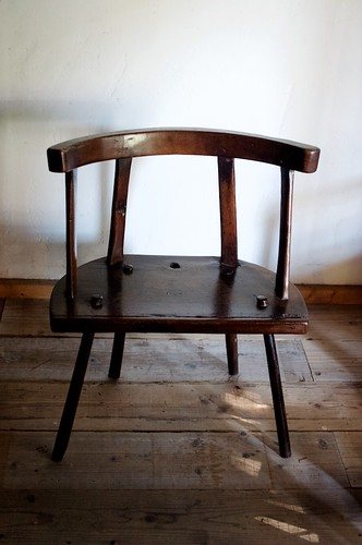 welsh hearthside back stool