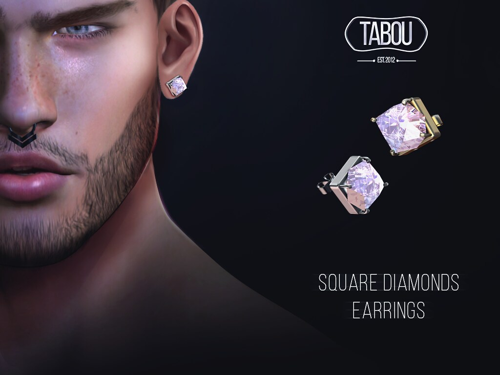 TABOU- square diamonds earrings-Group Gift