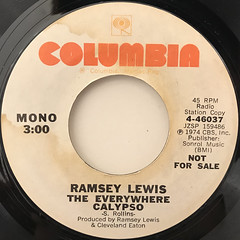 RAMSEY LEWIS:THE EVERYWHERE CALYPSO(LABEL SIDE-A)