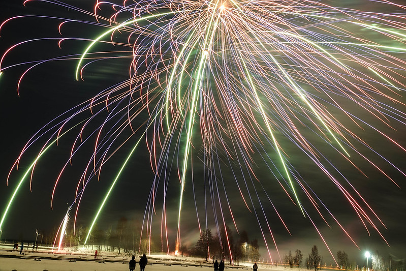 Vaasa New Year Fireworks ilotulitus