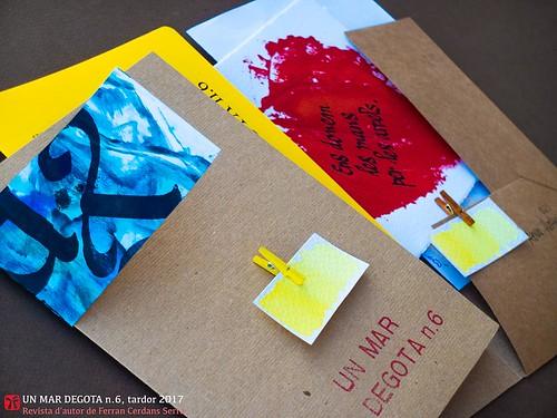 Un mar degota n.6, revista d'autor de Ferran Cerdans de LLibres Artesans