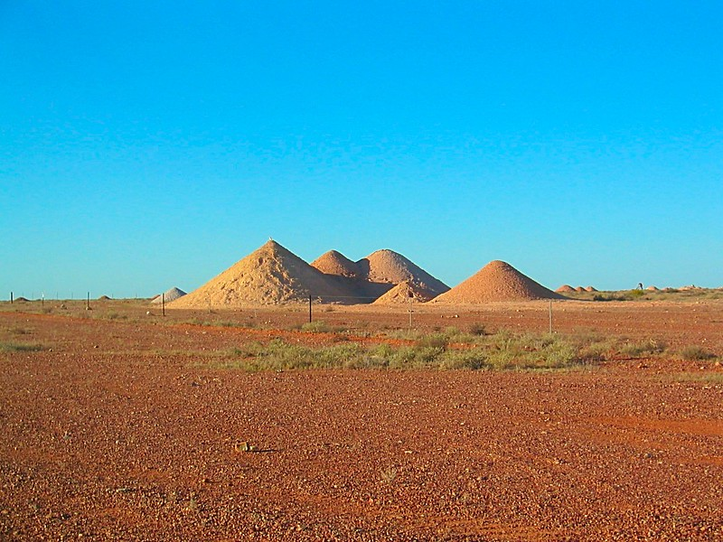 Blue Sky Red Earth Coober Pedy Opal Mine