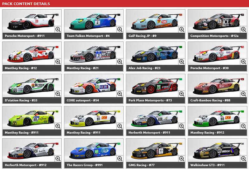 RaceRoom PORSCHE 911 GT3 R Liveries