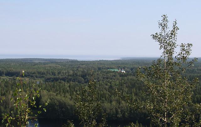 Вид на Савватиево с Секирки
