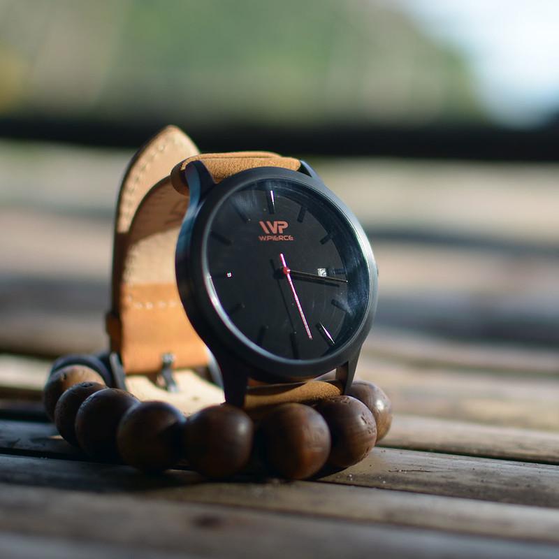 W.Pierce Timepiece in Black Tan