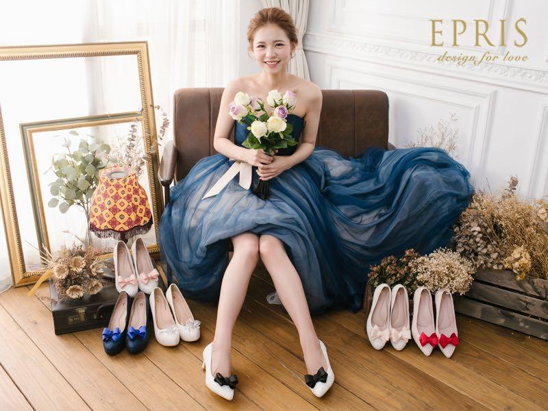 婚鞋穿搭/婚鞋配色/EPRIS艾佩絲手工婚鞋