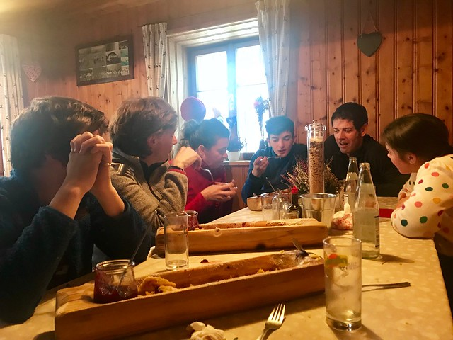 A delicious lunch at Egger-Grub-Alm Malga