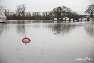 Hochwasservorbereitungen Wiesbaden 05.01.18