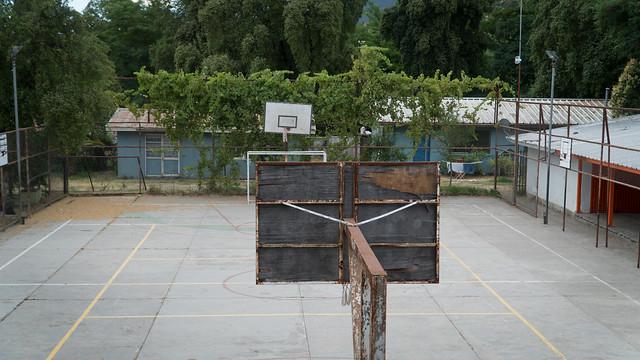 Pausenplatz der Schule