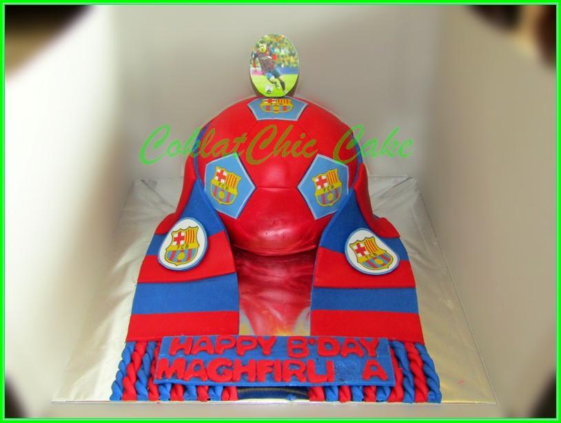 Cake Bola FC Barcelona MAGHFIRU 15cm