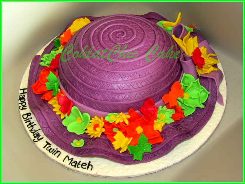 Cake Topi Twin Mateh 24cm