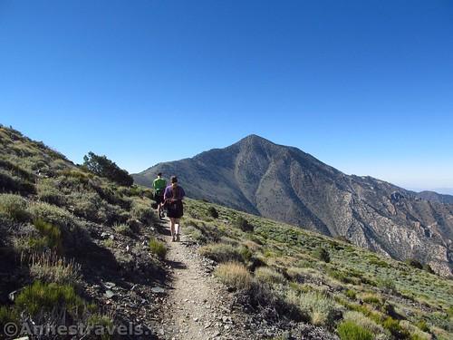 Walking the Telescope Peak Trail around Bennett Peak in Death Valley National Park, California
