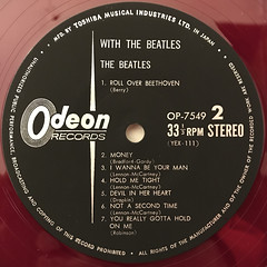 THE BEATLES:WITH THE BEATLES(LABEL SIDE-B)