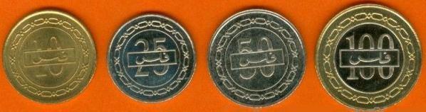 Sada mincí Bahrajn 10-25-50-100 Fils 2007-2008