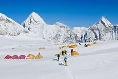 Expedition Mount Everest. Lager 1 auf 6000 m oberhalb des Khumbu-Eisfalls. Foto: Archiv Härter.