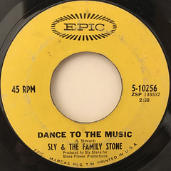 SLY & THE FAMILY STONE:DANCE TO THE MUSIC(LABEL SIDE-A)