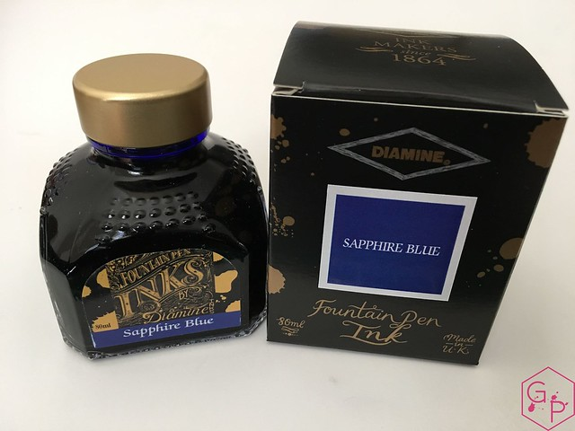 Ink Shot Review Diamine Sapphire Blue @BureauDirect 1