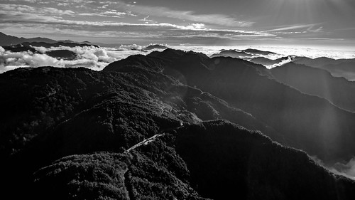 cloudsea mountains taiwan blackandwhite outdoors asia