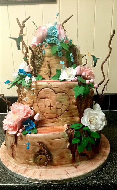 Tree Trunk Wedding Cake by Karen of Trinity Cakes