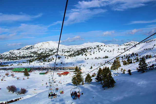 Kalavrita Ski Center , Achaea Greece