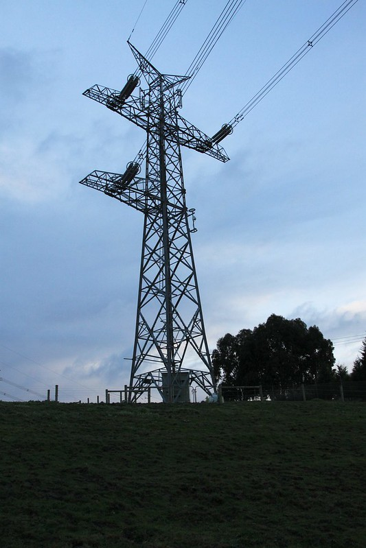 Dead end transmission line at Templestowe, Victoria