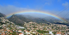 Rainbow over Madeira mountains
