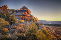 Cabin in the Morning Sun