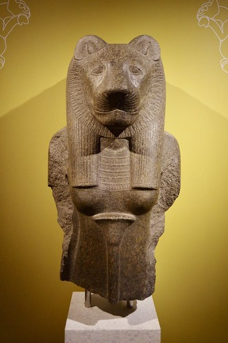 Upper Part of a Granite Statue of the Goddess Sekhmet