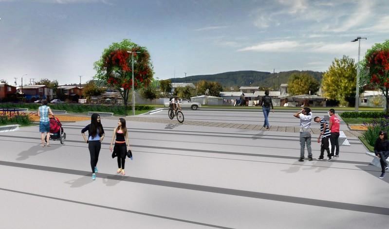Plaza Centra del Barrio - Barrio Norte - Paillaco