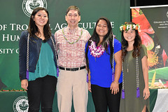 """Graduating Phi Upsilon Omicron (Family and Consumer Sciences honorary society) members with advisor Rick Caulfield at the college's convocation ceremony on December 8..  View more photos at CTAHR's Flickr site: <a href=""""https://www.flickr.com/photos/ctahr/sets/72157690935002195/with/27241438299/"""">www.flickr.com/photos/ctahr/sets/72157690935002195/with/2...</a>"""