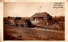 F-08250 Saint-Juvin (Ardennes) Gare Allemande/Deutscher Bahnhof mit Chemins de fer de l'État belge 2392 Typ 25 (Couilett 1217/1891) um 1915
