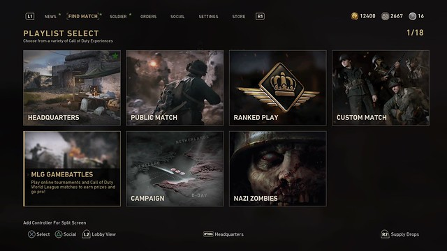 Call of Duty WWII: Tournaments on PS4