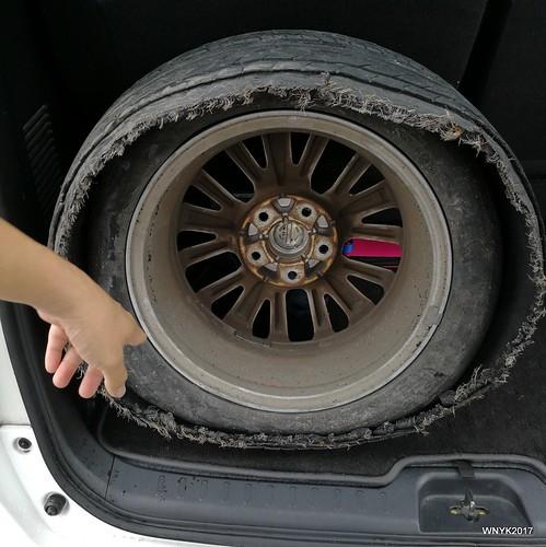 Burst Tyre II