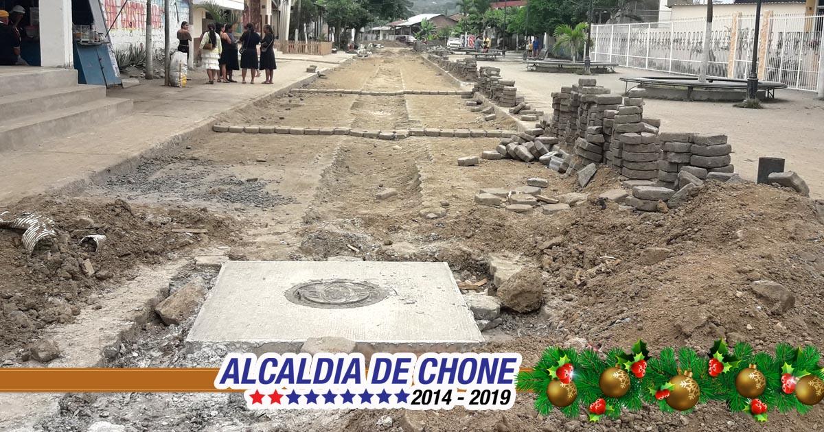 Alcantarillado sanitario y pluvial se construye en la Emilio Hidalgo