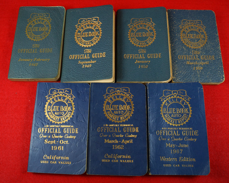 7 Vintage Kelley Blue Book Value Guides 1947-1967 - Bag The Web