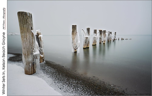 Winter Sets In, Kelson Beach Groyne