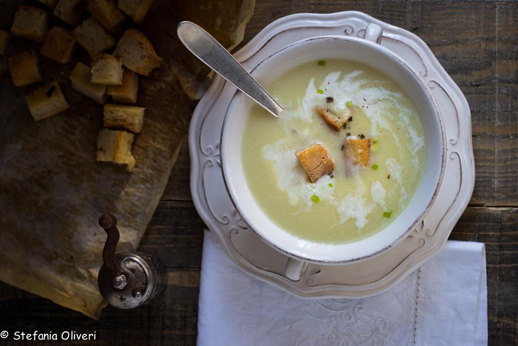 Vichyssoise zuppa di porri senza glutine-9174