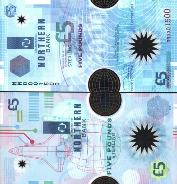 5 Libier Severné Írsko 1999, P203a Northern Bank LTD