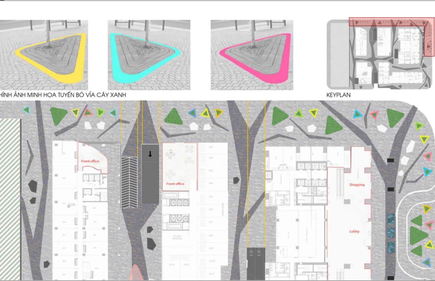 Dự án Kim Long Season Đà Nẵng - Bó vỉa cây xanh