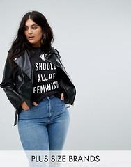 Femme-Boohoo-Plus-Veste-224-ceinture-en-similicuir-black